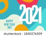 new year 2021 trendy modern... | Shutterstock .eps vector #1830276509