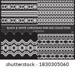 black and white christmas fair...   Shutterstock .eps vector #1830305060