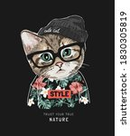 true nature slogan with cute... | Shutterstock .eps vector #1830305819
