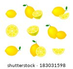 collection of lemons  isolated... | Shutterstock .eps vector #183031598