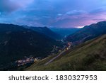 Beautiful Valley With Small...
