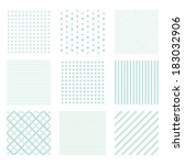 Set Of Seamless Simple Patterns ...