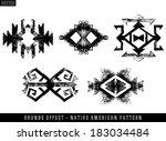 grunge effect navajo aztec... | Shutterstock .eps vector #183034484