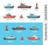 blue,boat,buoy,cruiser,fishing,flat,floating,icon,illustration,isolated,little,marine,nautical,navigation,red