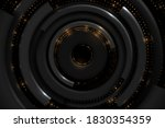 abstract black and gold circle... | Shutterstock .eps vector #1830354359