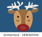 face of a happy christmas...   Shutterstock .eps vector #1830364343