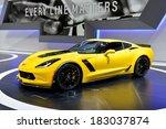 geneva  mar 4  corvette c7... | Shutterstock . vector #183037874