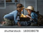 children in the form of an... | Shutterstock . vector #183038078
