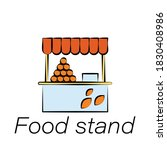 food stand hand draw icon....