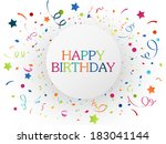 birthday celebration with... | Shutterstock .eps vector #183041144