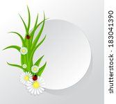 circle frame with grass and... | Shutterstock .eps vector #183041390