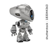 cool metal robotic toy 3d... | Shutterstock . vector #183044363