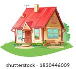 old cozy rural house. isolated... | Shutterstock . vector #1830446009