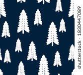 white snowy christmas trees...   Shutterstock .eps vector #1830447089