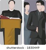 a set of 2 vector illustrations.... | Shutterstock .eps vector #1830449