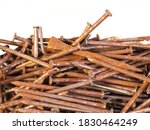 A Pile Of Old And Rusty Nails...