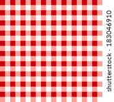 Red Tablecloth Pattern.