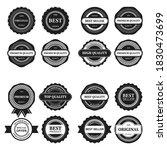 a vintage badge design set. | Shutterstock .eps vector #1830473699