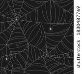 creepy spider web seamless... | Shutterstock .eps vector #1830487769
