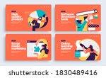 set of presentation slide... | Shutterstock .eps vector #1830489416