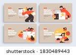 set of presentation slide... | Shutterstock .eps vector #1830489443