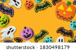 halloween concept pumpkin jack... | Shutterstock . vector #1830498179