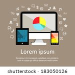 electronic technology devices...   Shutterstock .eps vector #183050126