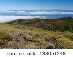 volcanic landscape of la palma... | Shutterstock . vector #183051248