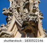 Close Up Of Stone Carvings At...