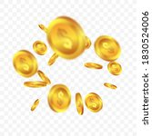 realistic gold coin jackpot or... | Shutterstock .eps vector #1830524006