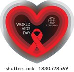 hand drawn of world aids day ... | Shutterstock .eps vector #1830528569
