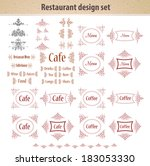 retro set of labels for...   Shutterstock .eps vector #183053330