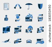 insurance security icons set of ... | Shutterstock .eps vector #183053450
