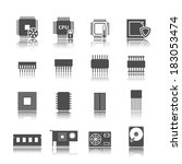 condensador,circuito,colección,componentes,dispositivos,diodo,directa,electrónica,fusible,integrado,móvil,icono,resistencia,segmentación,siete