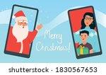 virtual merry christmas 2020... | Shutterstock .eps vector #1830567653
