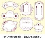 china frame label design...   Shutterstock .eps vector #1830580550