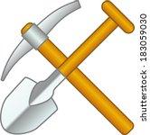 shovel and pick axe | Shutterstock .eps vector #183059030