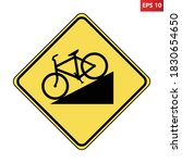 bicycle hill road sign. vector...   Shutterstock .eps vector #1830654650