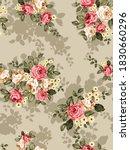 orange and cream vector flowers ... | Shutterstock .eps vector #1830660296