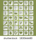 vector image of green... | Shutterstock .eps vector #183066680