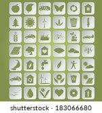 vector image of green... | Shutterstock .eps vector #183066680