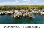 Fishing Village With Wooden...