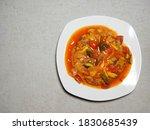 Fu Yung Hai On White Plate ...