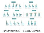 old man sit on chair exercise...   Shutterstock .eps vector #1830708986