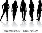 women silhouettes | Shutterstock .eps vector #183072869