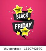 black friday sale banner layout ... | Shutterstock .eps vector #1830742970