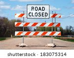 Dusty Road Closed Sign On A...