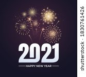 happy new year 2021 greeting... | Shutterstock .eps vector #1830761426