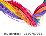 colorful cable isolated on... | Shutterstock . vector #1830767036