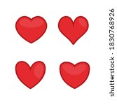 red hearts icons set. love ...   Shutterstock . vector #1830768926